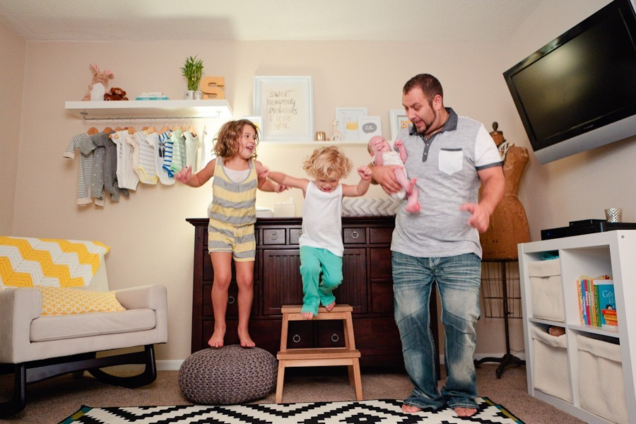Family of Five and a Hanging Wardrobe Shelf DIY