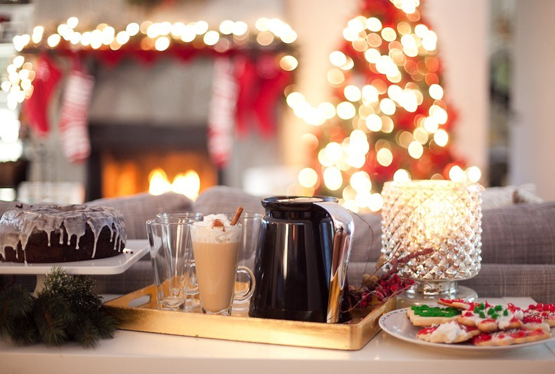 Festive Holiday Dessert and Coffee Bar | A Festive Holiday Dessert and Coffee Bar + The Best Gingerbread Cookie Recipe featured by top Florida foodie blog Fresh Mommy Blog