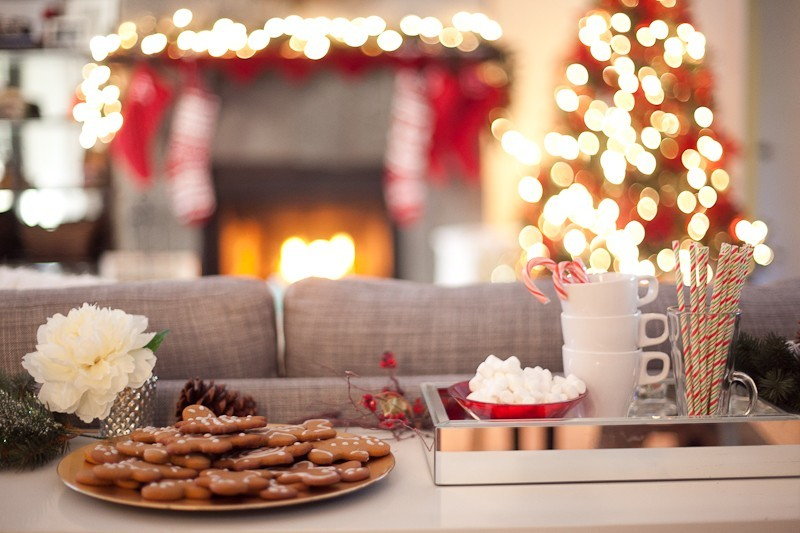 Dessert Console Table | A Festive Holiday Dessert and Coffee Bar + The Best Gingerbread Cookie Recipe featured by top Florida foodie blog Fresh Mommy Blog