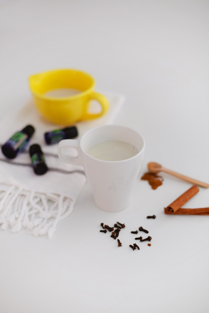 Use pure essential oils to make a delicious and healthy chai tea that will boost your immune system! - Chai Tea Recipe with Essential Oils by popular Florida lifestyle blogger Fresh Mommy Blog