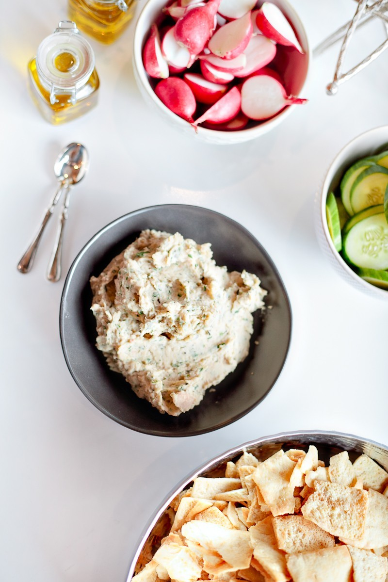 Fresh Herb White Bean Dip… so delicious and a great and easy alternative to hummus