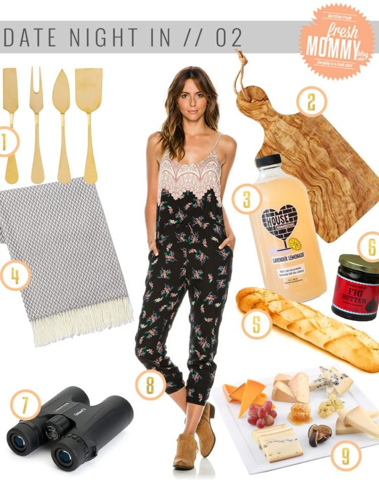 It's easy to create a romantic date night right at home! Have a date night in with this French inspired picnic!