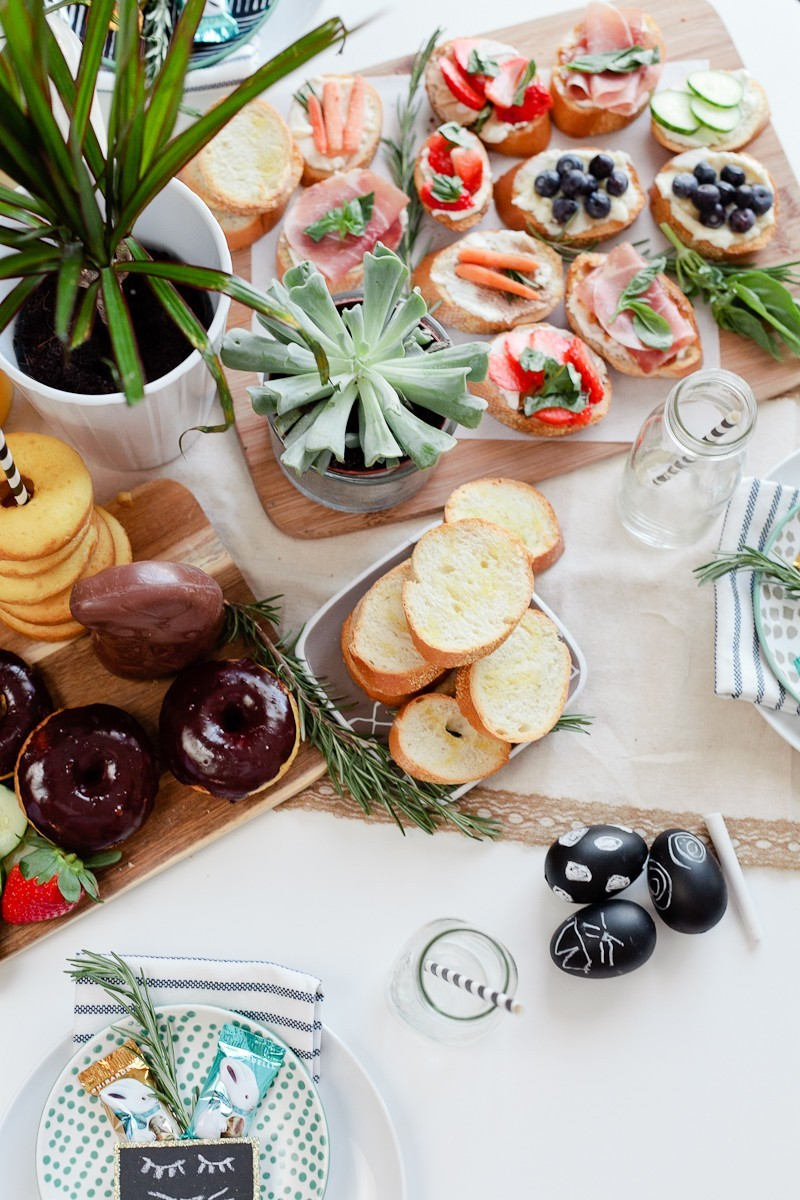 Simply Delicious Easter Crostini Brunch with donuts and Ghiradelli chocolate!-7