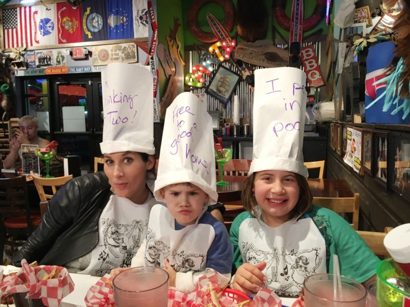 Pigeon Forge Family Fun Vacation Dick's Last Resort Hats on The Island