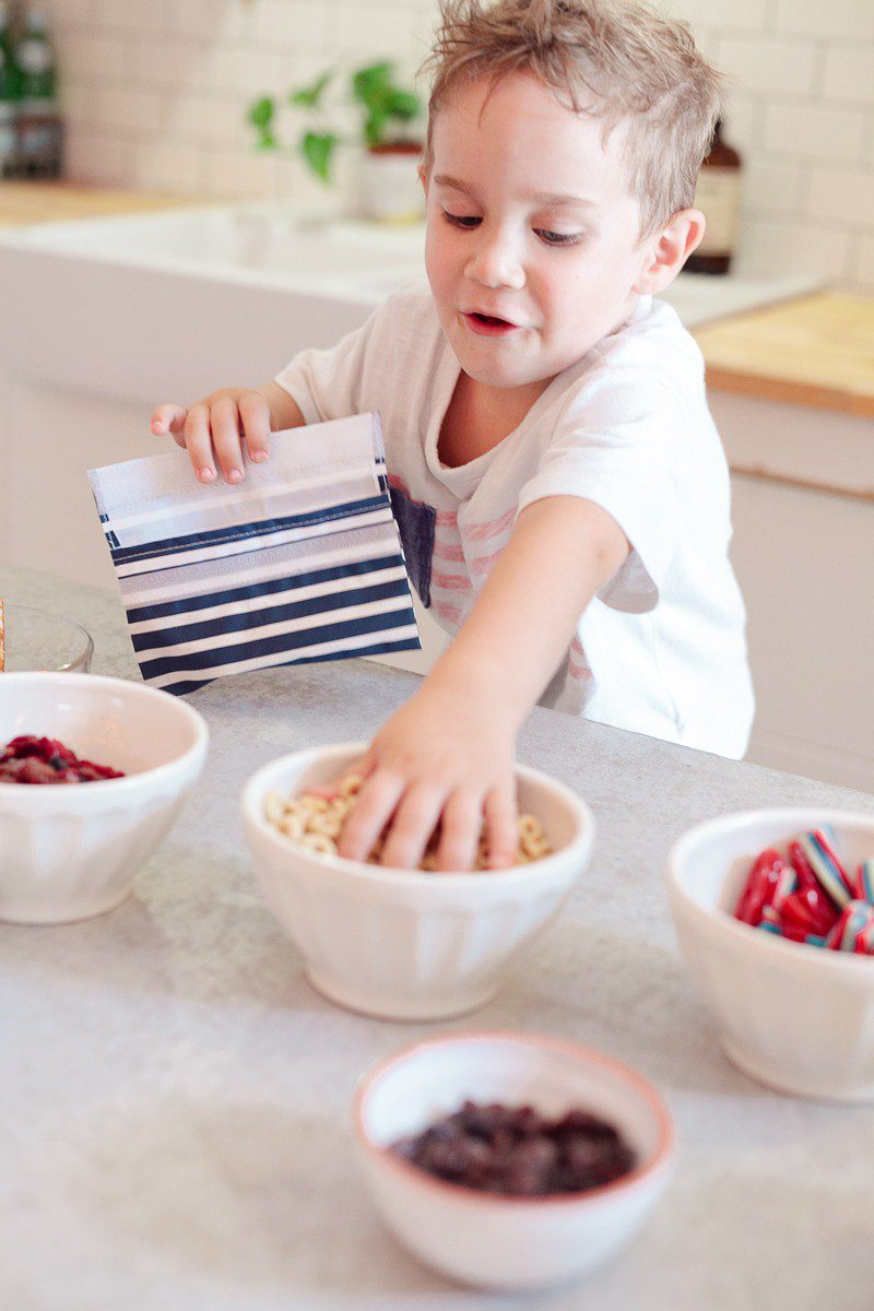 Kid Approved Patriotic Trail Mix + FREE Scavenger Hunt Printable