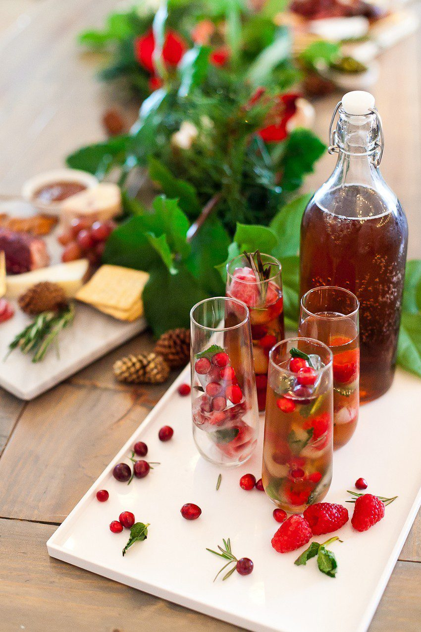 Food Network | Holiday Parties | Merry and Bright Christmas Ice Cubes + Ultimate Holiday Cheese Board featured by top Florida foodie blog Fresh Mommy Blog