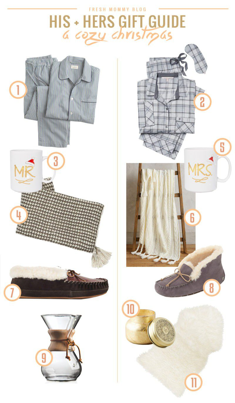A His & Hers Gift Guide for a Cozy Christmas. Cuddle worthing gift ideas for the ultimate holiday present. Stay cozy and snuggled in from the cold, together!