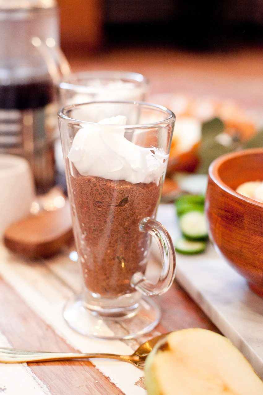 Indoor Picnic Brunch with a delicious Mocha Chia Pudding featured by top FL lifestyle blogger, Tabitha Blue of Fresh Mommy Blog