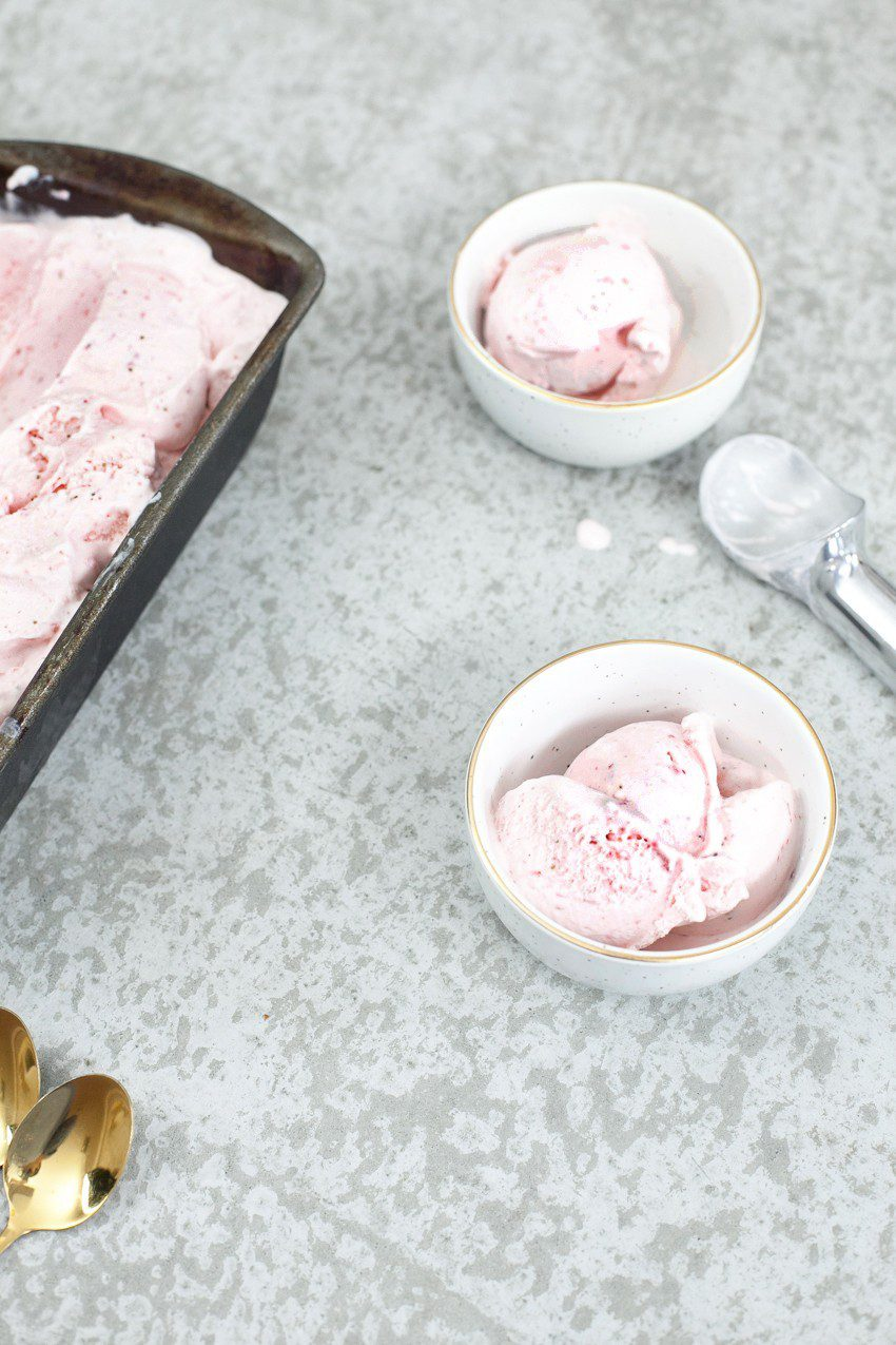 The best homemade strawberry ice cream recipe!!! The best I've ever had, I was shocked at how easy this ice cream recipe was to make and how creamy it turned out.