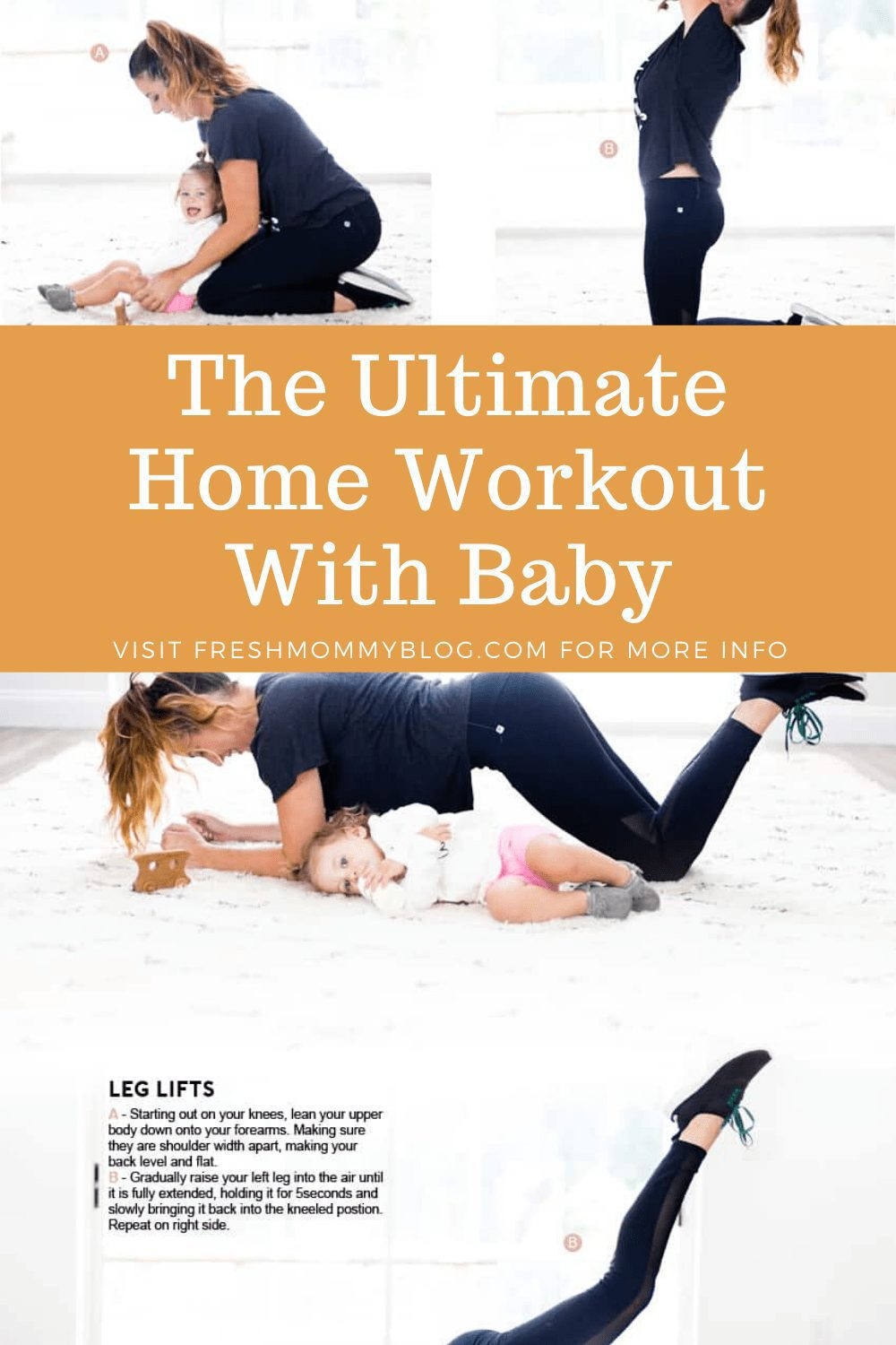 Get your energy back, get stress relief and kick start your workouts, even with baby in tow, with this mom and baby workout routine. You can practice self care at home with this exercise routine at home, even with baby, and home bodyweight exercises to reduce stress and increase stamina.