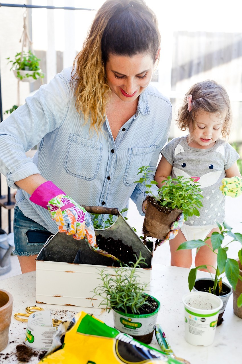 Make Your Own DIY Rolling Garden and Plant Shelf by popular South Florida lifestyle blogger Fresh Mommy Blog