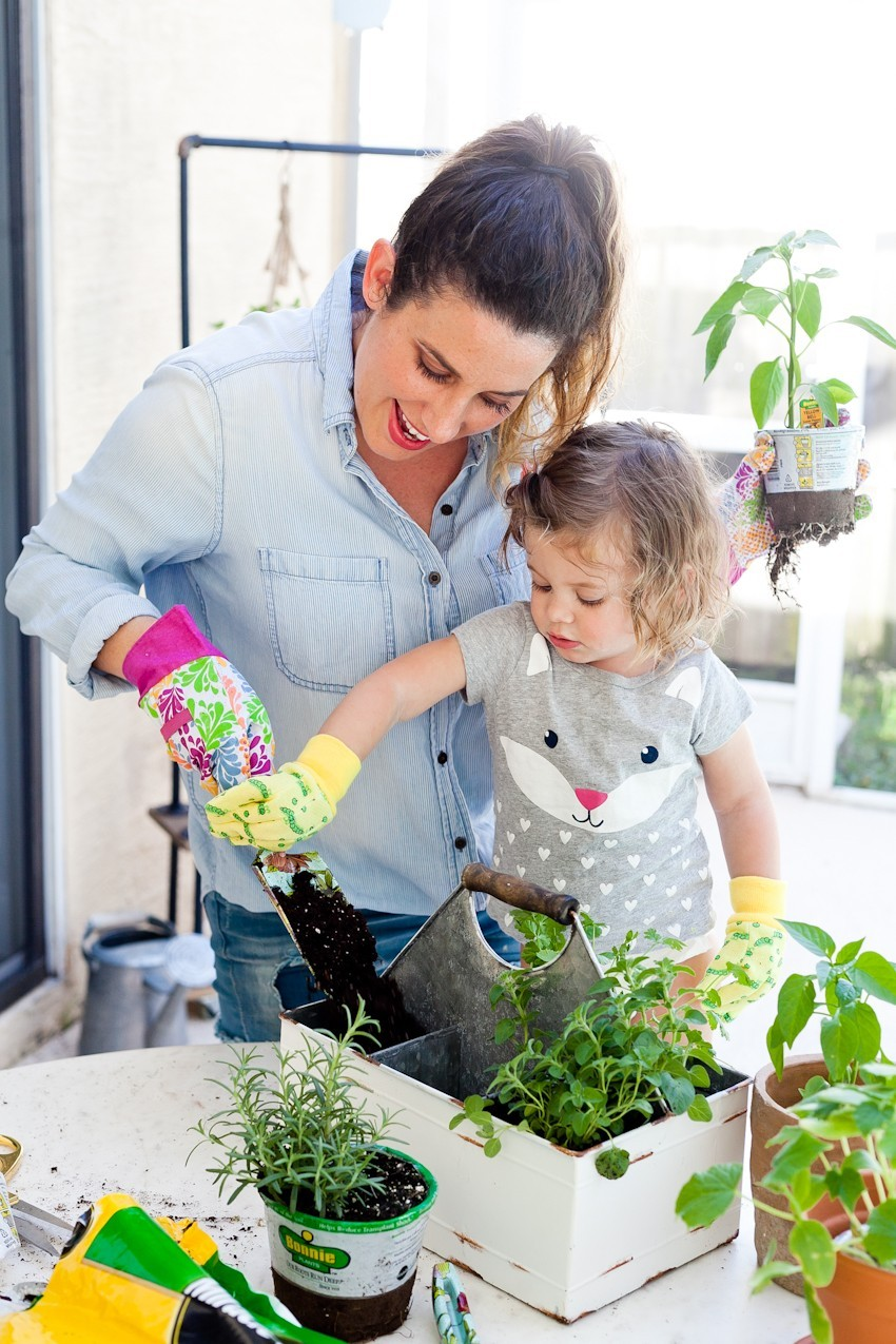 DIY Rolling Vertical Herb Garden and Plant Shelf by popular South Florida lifestyle blogger Fresh Mommy Blog