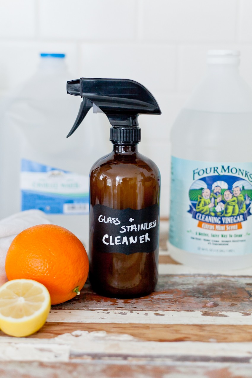 DIY Glass Cleaner & Stainless Steel Cleaner with Essential Oils by popular South Florida lifestyle blogger Fresh Mommy Blog