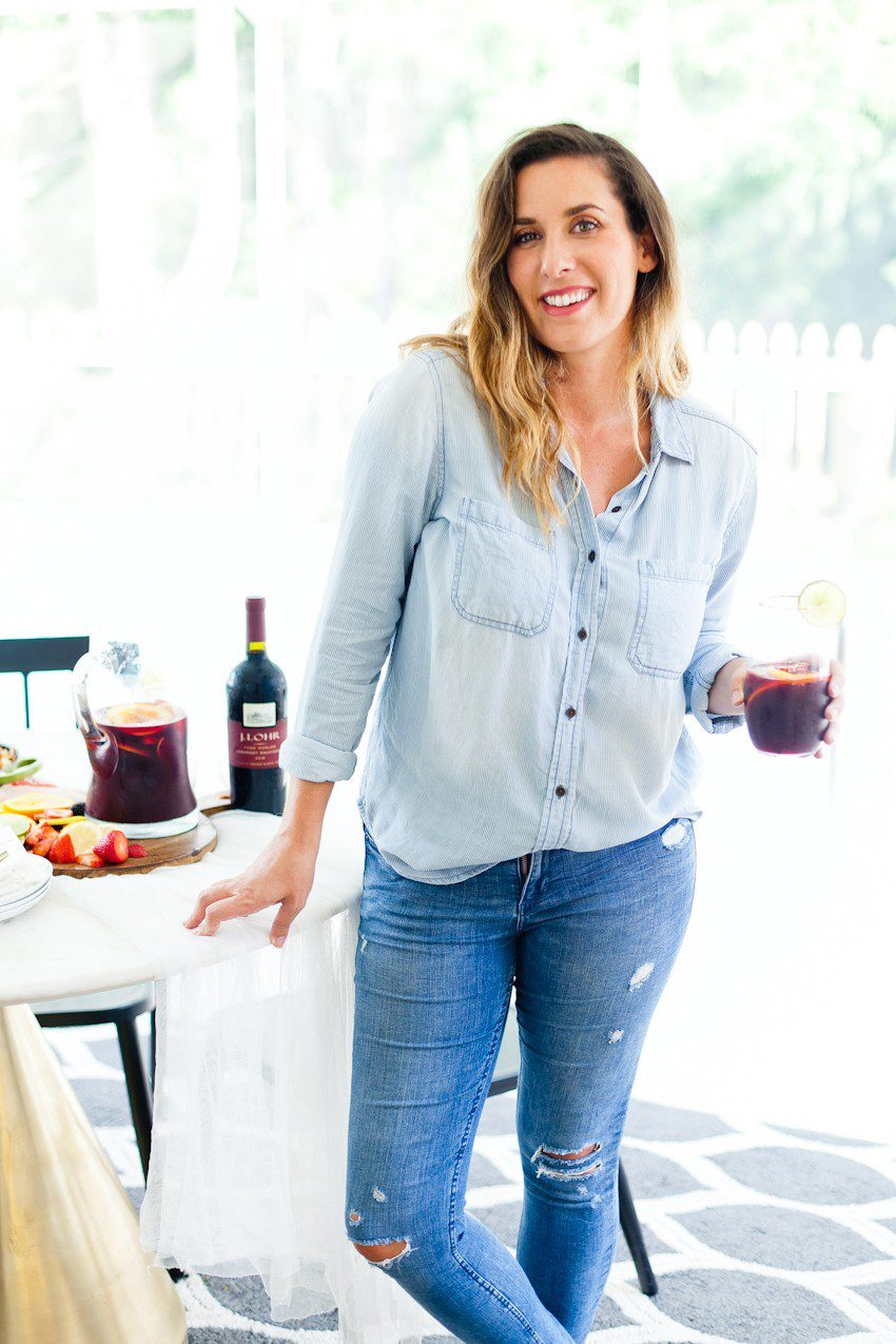 What better way to celebrate the season than with a blood orange berry summer sangria? It's our go-to summer drink and with one big hack to make sangria even easier, this recipe is perfect for your next gathering or summer get together! - Refreshing Blood Orange Berry Summer Sangria Recipe featured by popular Florida lifestyle blogger, Tabitha Blue of Fresh Mommy Blog