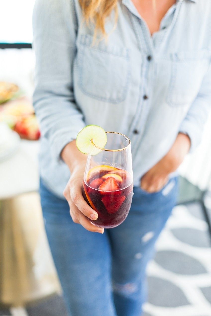Refreshing Blood Orange Berry Summer Sangria Recipe featured by popular Florida lifestyle blogger, Tabitha Blue of Fresh Mommy Blog