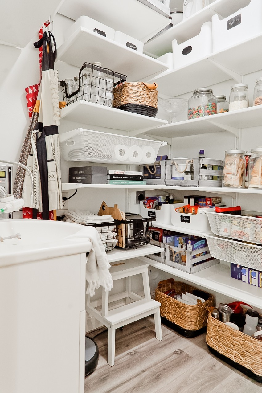 3 Essential Pantry Organization Tips + Laundry Room to Walk-In Pantry Makeover featured by popular Florida lifestyle blogger, Tabitha Blue of Fresh Mommy Blog.