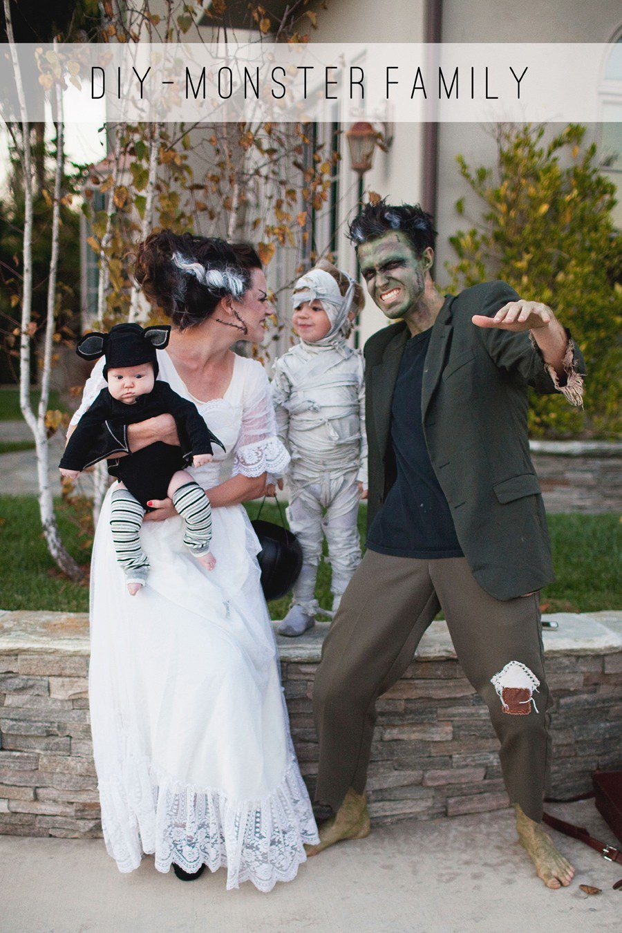 Monster Family costume idea from Tell Love and Party, plus 10 favorite family costumes (with ideas for baby too!) from popular Florida lifestyle blogger Tabitha Blue of Fresh Mommy Blog!   Cute Halloween Family Costume Ideas featured by top Florida lifestyle blogger, Fresh Mommy Blog: Monster Family