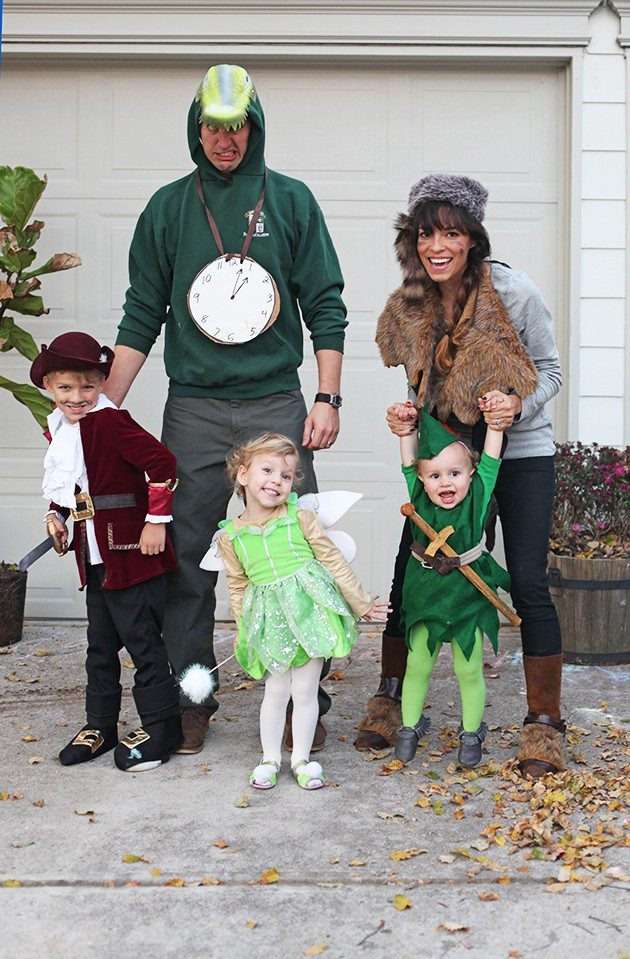 Peter Pan and the Crew for a Neverland Family costume idea from IHOD, plus 10 favorite family costumes (with ideas for baby too!) from popular Florida lifestyle blogger Tabitha Blue of Fresh Mommy Blog!   Cute Halloween Family Costume Ideas featured by top Florida lifestyle blogger, Fresh Mommy Blog: Neverland Crew