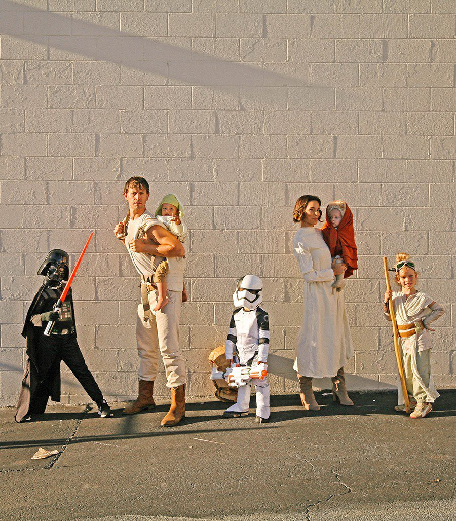 Star Wars Family costume idea from IHOD, plus 10 favorite family costumes (with ideas for baby too!) from popular Florida lifestyle blogger Tabitha Blue of Fresh Mommy Blog!   Cute Halloween Family Costume Ideas featured by top Florida lifestyle blogger, Fresh Mommy Blog: Star Wars family