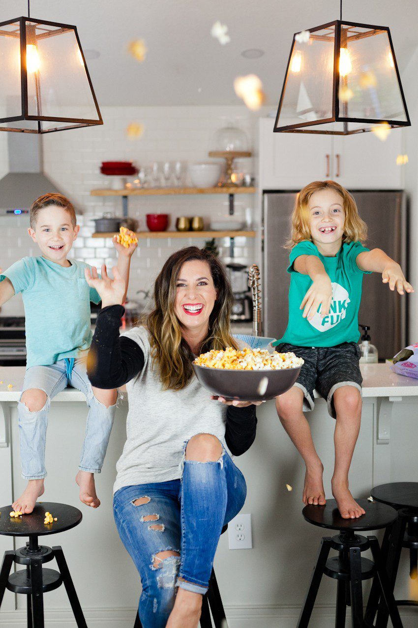 Road Trip Tips andEasy Snacks on the Go for your Family including a Chicago classic Garrett's Popcorn mix hack for just 70 calories a cup!