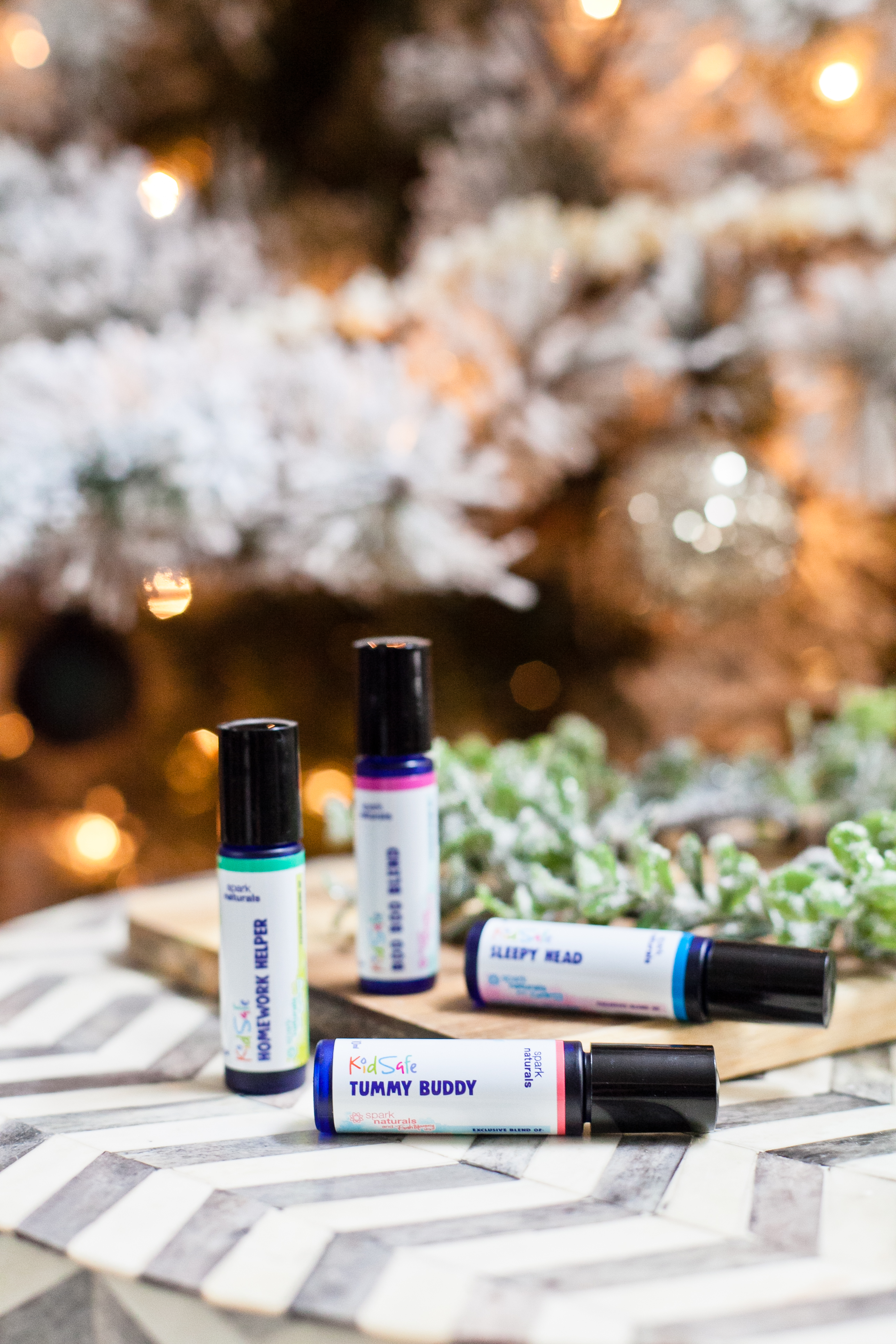 KID SAFE, ready to use and apply essential oil blends for kids. Build up your natural medicine cabinet with these four blends from popular Florida lifestyle blogger Tabitha Blue of Fresh Mommy Blog and Spark Naturals pure essential oils!