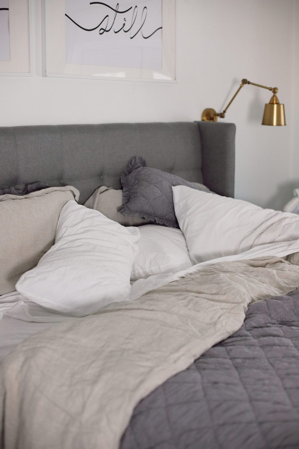 how to Make your Bed Comfortable Like a Hotel in 7 Easy Steps, a tutorial featured by top Florida lifestyle blog, Fresh Mommy Blog. | Best Bedding by popular Florida life and style blog, Fresh Mommy: image of an unmade comfortable bed.