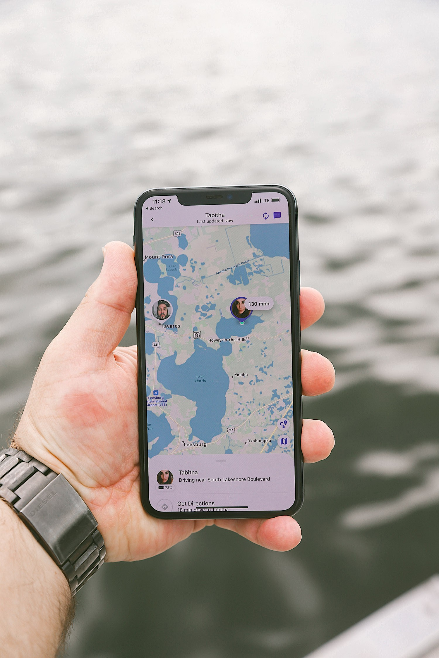 Spectacular Lake County, Florida Staycation Ideas for the Family!   Lake County by popular Florida blog, Fresh Mommy Blog: image of google maps on a smart phone.