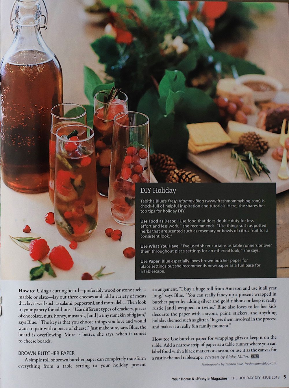 Holiday Ice Cubes feature from Tabitha Blue in Your Home & Lifestyle Magazine