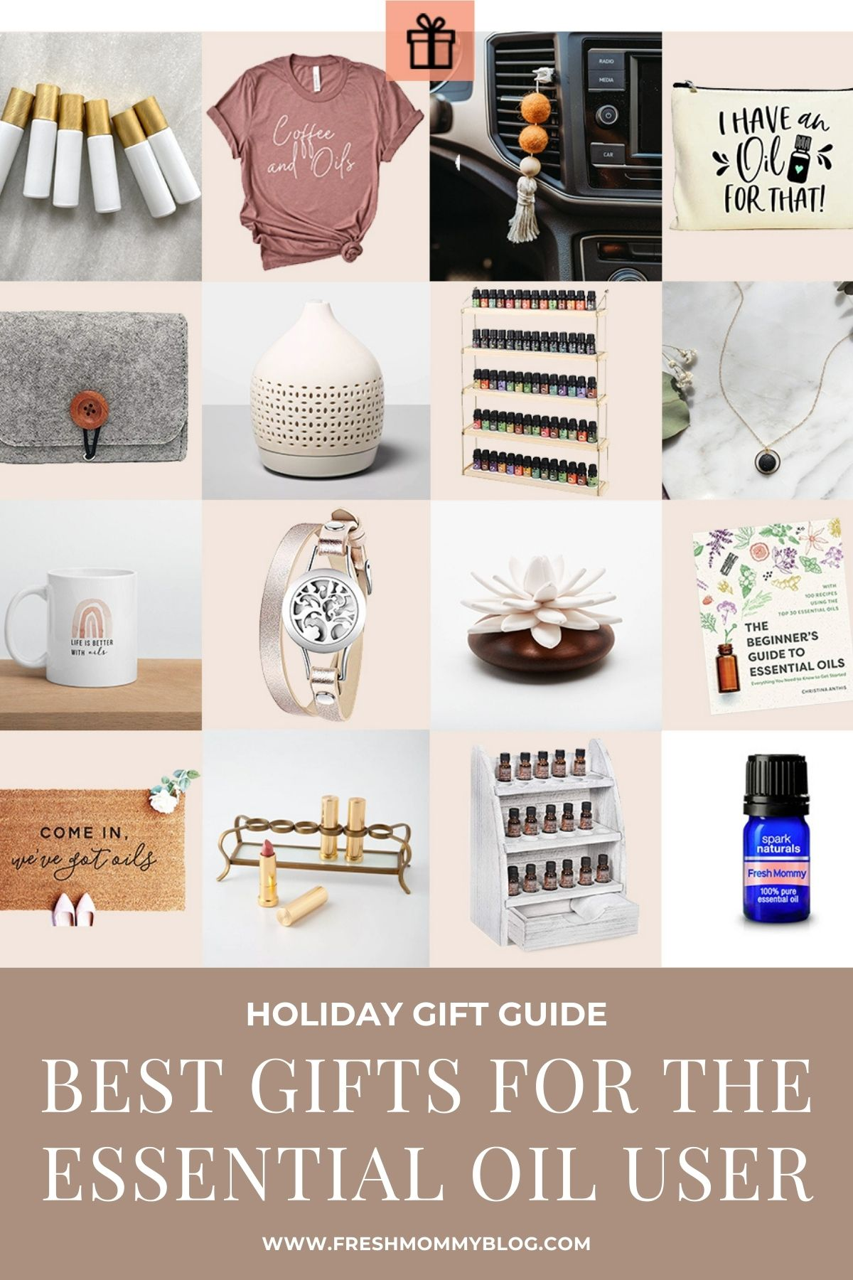 Essential Oil Gift Ideas featured by top Essential Oil blogger, Fresh Mommy Blog.
