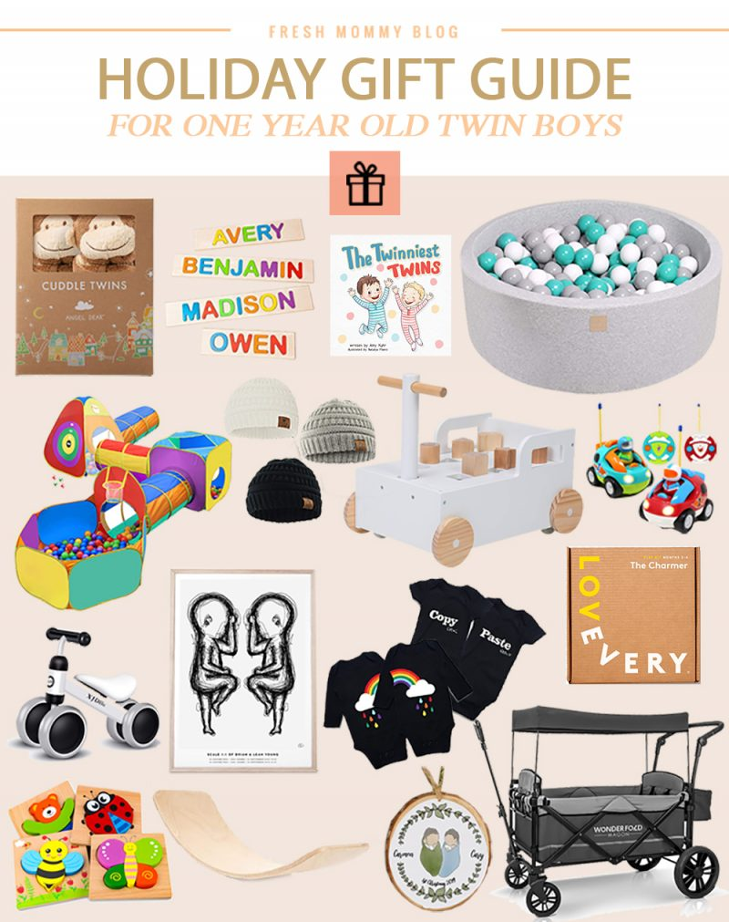 16 Best Gift Ideas for One Year Old Twin Boys featured by top Florida mommy blogger, Fresh Mommy Blog