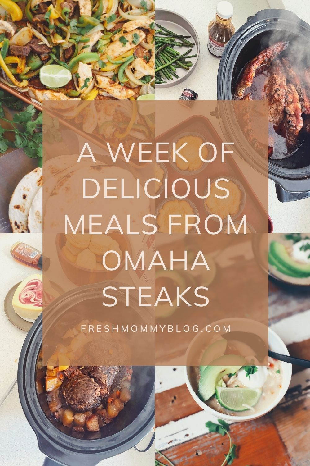 Omaha Steaks Meals featured by top FL lifestyle blogger, Tabitha Blue of Fresh Mommy Blog.   Omaha Steaks Meals by popular Florida lifestyle blog, Fresh Mommy Blog: Pinterest image of Omaha Steaks meals.