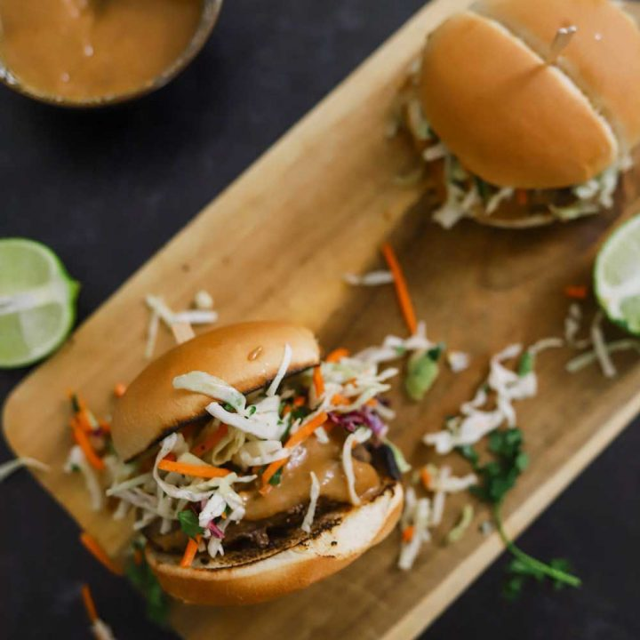 Thai Burgers With Peanut Sauce and 5 Barbeque Side Ideas for delicious family BBQ dinner ideas from top Florida lifestyle and food blogger Tabitha Blue of Fresh Mommy Blog
