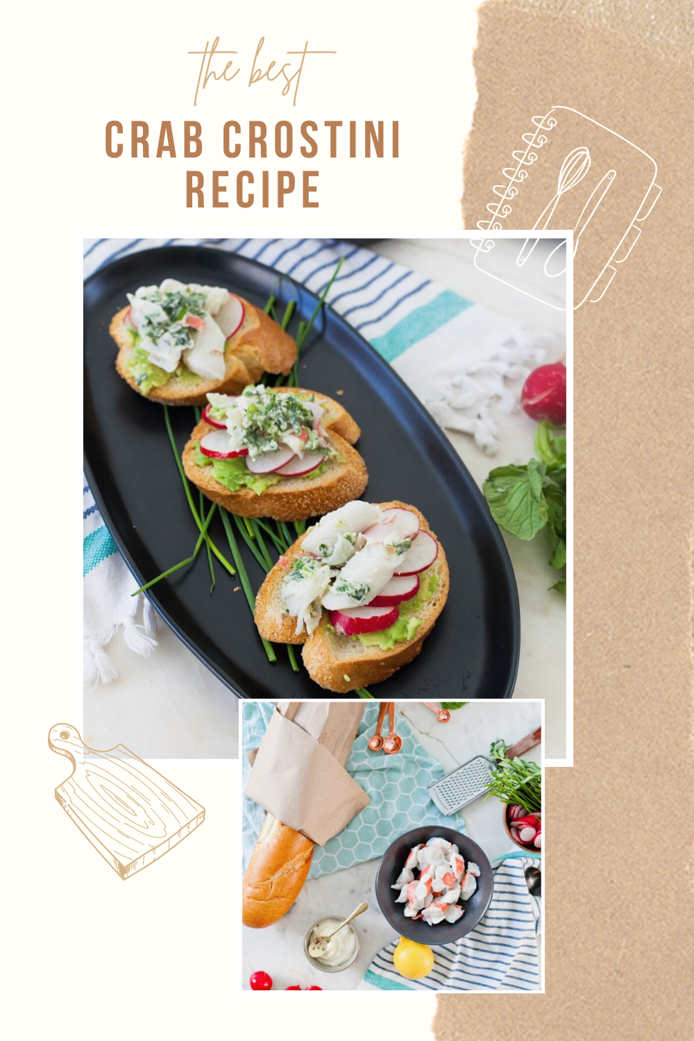 A fun way to serve appetizers with a twist. Looking for a seafood appetizer? Try The Best Crab Crostini You Should Make For Your Next Party featured by top Florida lifestyle blog, Fresh Mommy Blog