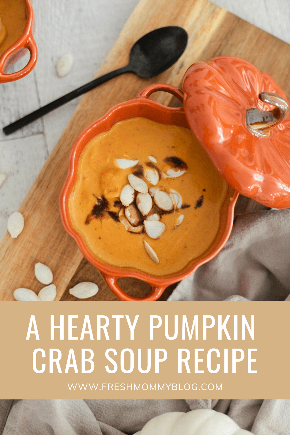 A Hearty Pumpkin Crab Soup to Cozy Up from top Florida Lifestyle Blogger Tabitha Blue of Fresh Mommy Blog.