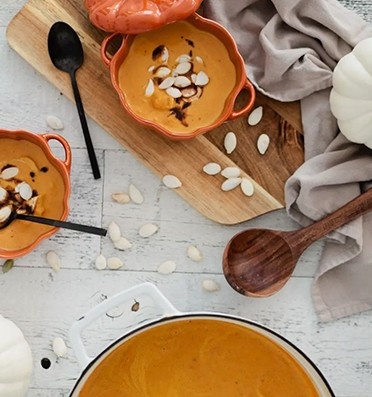 Pumpkin crab soup recipe featured by top Florida lifestyle blog, Fresh Mommy Blog