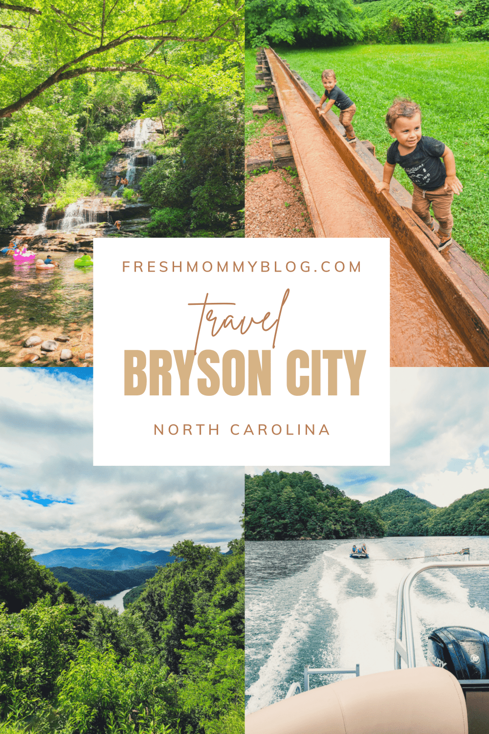 Best Things to Do in Bryson City NC with Kids    Things to do in Bryson City NC by popular Florida travel blog, Fresh Mommy Blog: Pinterest image of things to do in Bryson City NC.