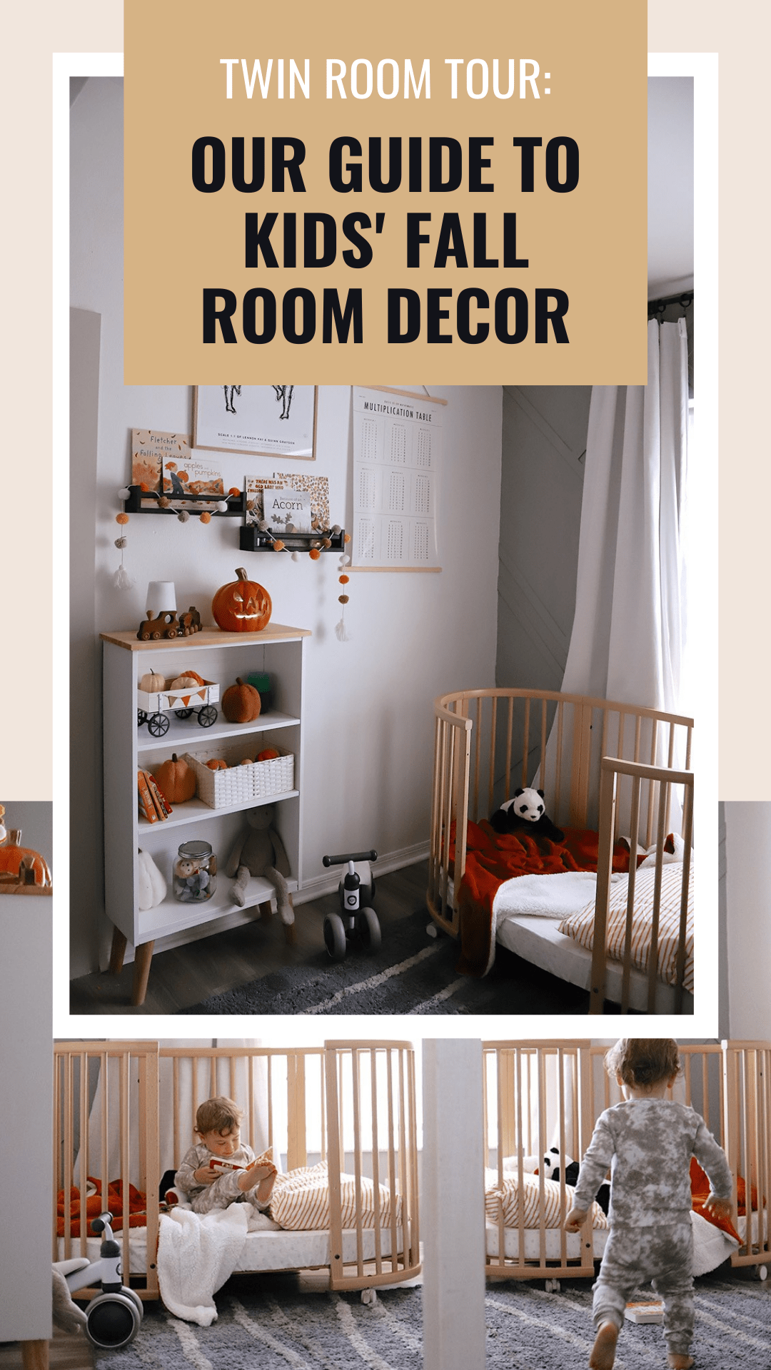 Fall Kids Room Decor Ideas feeatured by top US home blogger, Fresh Mommy Blog