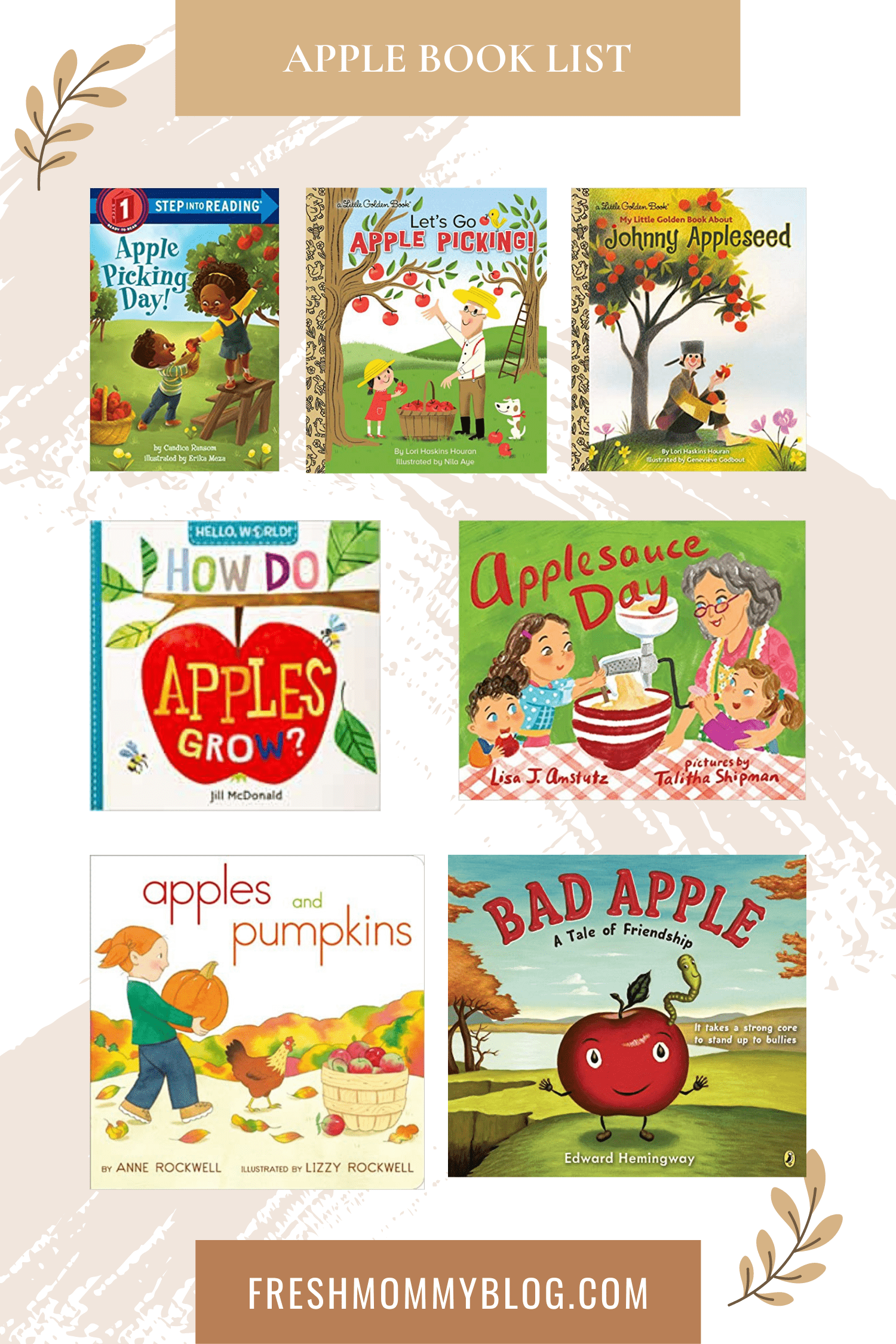 If you're looking for the perfect fall childrens books, look no further! The roundup of our top fall kids books has you covered, whether you're looking for something to entertain your toddler or a fall book list to keep your older kids busy all autumn long. Apple books for kids.